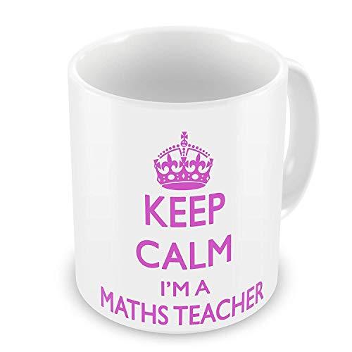 Behalten Sie Ruhe, die ich eine Mathe-Lehrer-Geschenk-Tasse bin - Rosa (Gehen Mathe-lehrer)