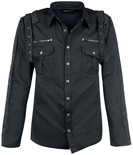 Gothicana by EMP Dark Night Camicia nero XL