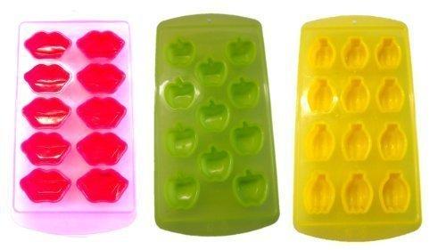 Eiswürfelbereiter Eisform Farbe sortiert Aktion 1 bezahlen wir liefern 3 Stück easy go für 1 x 10 Kisskugeln 1 x 11 Apfel 1 x 12 Zitronen -Eisformen stabiler als die Silkonversionen NEU von Conny Clever® Früchte 2014