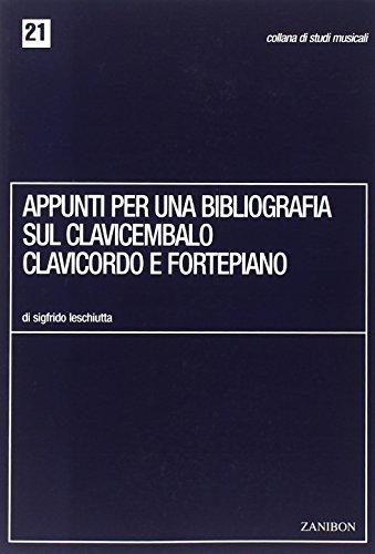 Appunti Per Una Bibliografia Sul Clavicembalo,