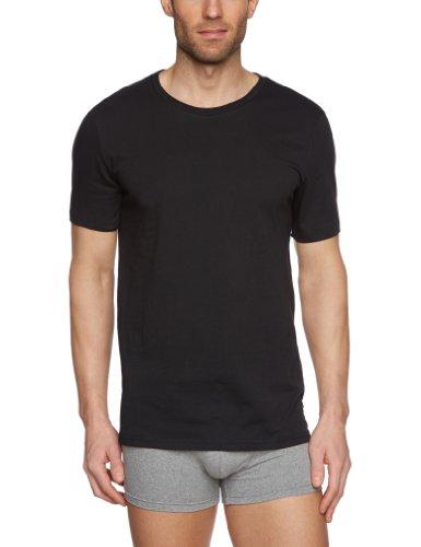 Tommy Hilfiger Herren T-Shirt 2 er Pack Cotton CN Tee SS 2Pack / 2S87902163, Schwarz (010 Caviar), S / 48 (Hilfiger Kinder Tommy Kleidung)