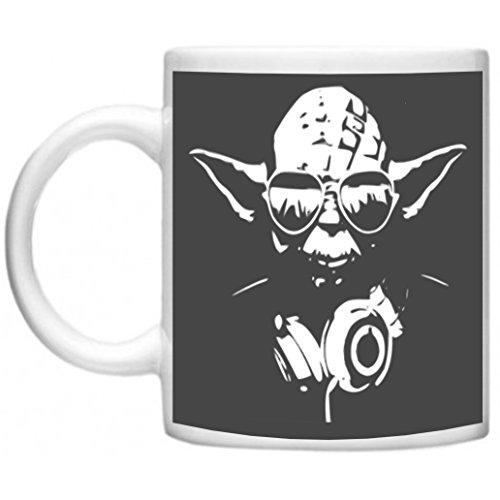 il Beats von Yoda gedruckt auf mikrowellengeeignet & spülmaschinenfest 11oz Becher/Tasse (Yoda Katze Kostüme)