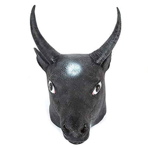 Hathaway maschera creativa tauren copricapo maschera divertente cos in lattice di halloween di simulazione della mascherina del partito di travestimento copricapo tutto il formato