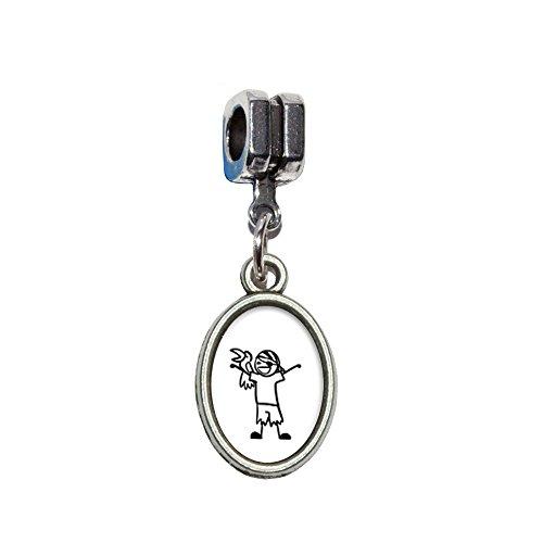 chmännchen–Boy italienischen europäischen Euro-Stil Armband Charm Bead–für Pandora, Biagi, Troll,, Chamilla,, andere (Strichmännchen Kostümen)