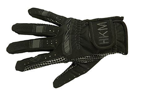 HKM Damen Reithandschuh-Strong Handschuhe, Schwarz, XXL