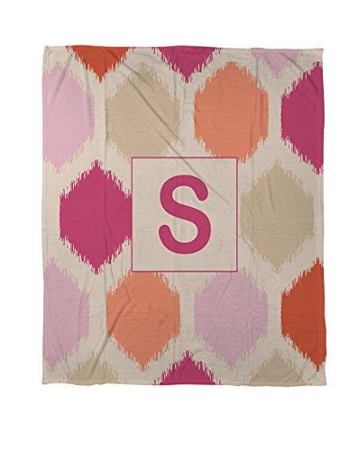 Manuelle holzverarbeiter & Weavers Bettbezug-, Monogramm Buchstabe S, pink Batik