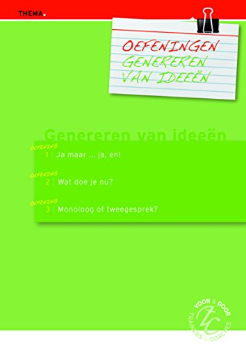 Oefeningen genereren van ideeen (Dutch Edition)