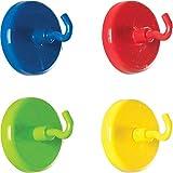 Ganchos magnéticos Imanes neodimio con gancho de colores, 2 uds., colore:verde