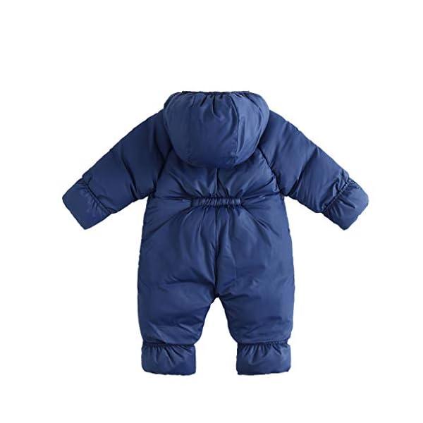 Bebé Traje de Nieve con Capucha Mameluco Infantil Cremallera Mono Invierno Peleles Impermeable para Niñas Niños Abrigo… 2