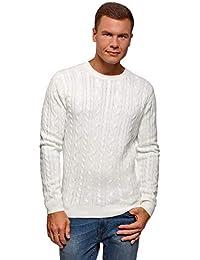 enorme sconto e3c6e 0d5a5 maglione bianco - Uomo: Abbigliamento - Amazon.it