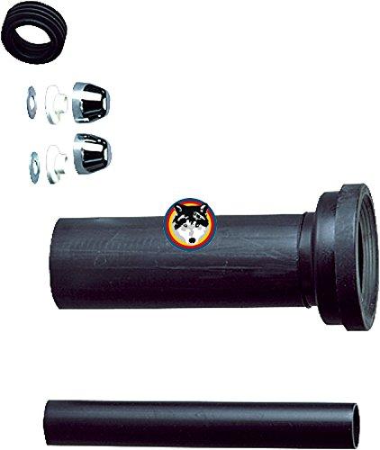 Keramag iCon Keratect WC spülrandlos rimfree + Pagette WC Sitz Softclose + Anschluss Set Länge 300 mm + Schallschutz Set