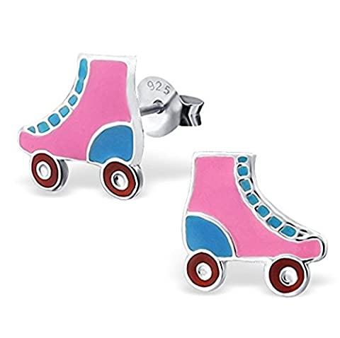 Pair of Small Sterling Silver Roller Skate Earrings