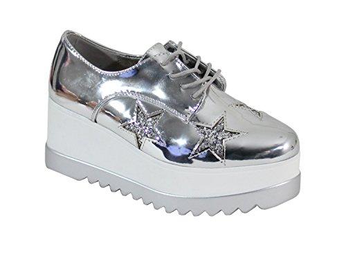 Gris Femme Shoes Compensée Chaussure By Vernis Style qw7YUBxZ