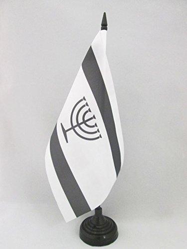 AZ FLAG TISCHFLAGGE JIDDISCH 21x14cm - JÜDISCH-DEUTSCH TISCHFAHNE 14 x 21 cm - flaggen