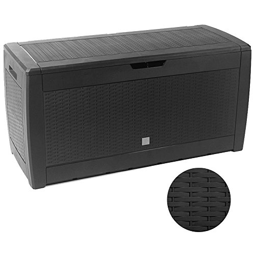 "Prosper Plast Gartenbox ""Boxe Rato"", Anthrazit, MBR310-S433, 119x 48x 60cm, 6-teilig"