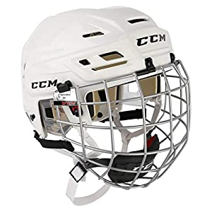CCM Fitlite 40 Helm Combo Senior, Größe:L;Farbe:weiss