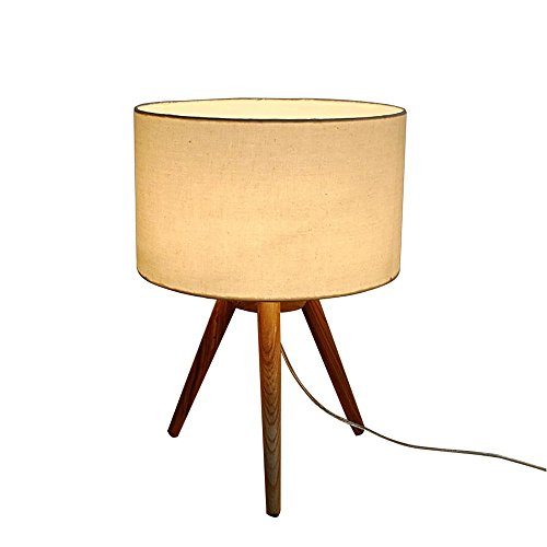 Lampe de table Desk Lamps Lampe De Table en Bois Europe du Nord Simple Chambre À Coucher Salon Lire LED 30W 220V E27
