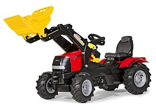 *Rolly Toys 611126 rollyFarmtrac Case Puma | Trettraktor mit Lader | Traktor mit Sitzverstellung, Motorhaube zum Öffnen, Luftbereifung | für Kinder ab 3 Jahren| Farbe rot/schwarz*