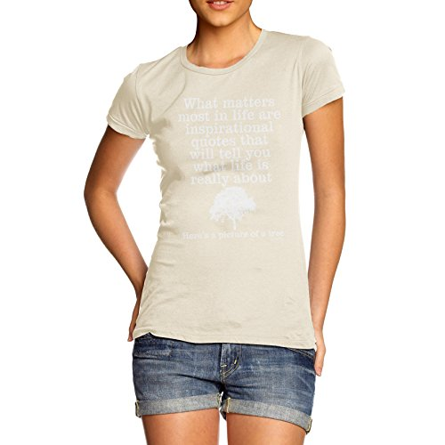 TWISTED ENVY  Damen T-Shirt Natur
