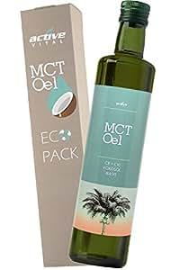 ACTIVEVITAL MCT Oil 500ml neutral in Glasflasche | Kokos-Öl Basis | C8 C10