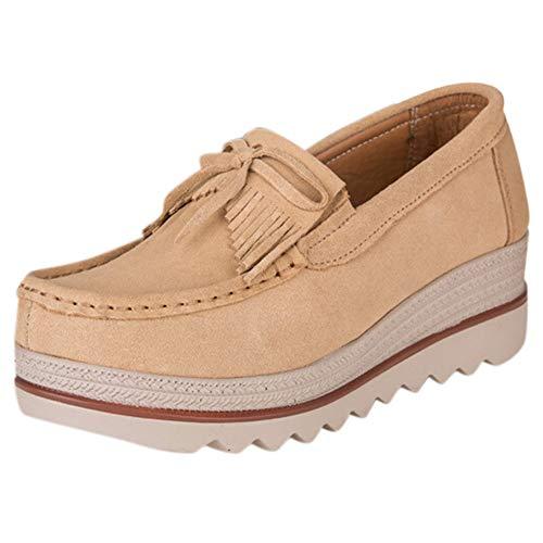 Selou Damen bequeme Plateauschuhe Die neuesten flachen Schuhe Erhöhen Sie Schuhe Erbsen Schuhe Sportschuhe Wildleder Freizeitschuhe warme Schuhe Hausschuhe Schnee Stiefel Monochrom großen Damenschuhe
