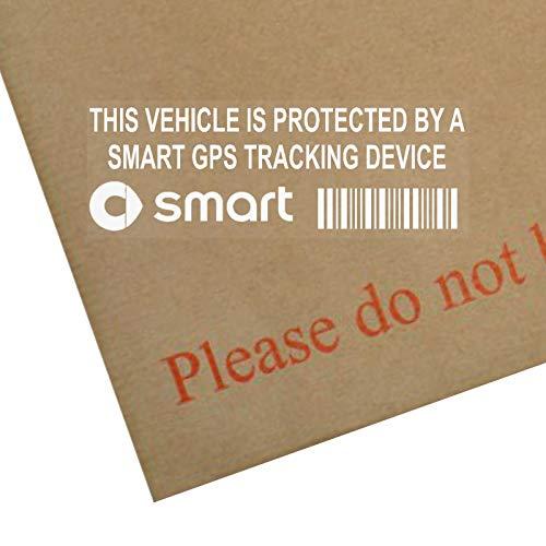 5 x SMART GPS Gerät Sicherheit Fenstertattoo 87 x 30 mm-City, Fortwo Forfour,, Coupé, Cabrio Tracker Car-Alarm
