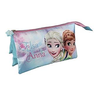 Disney Frozen- Estuche portatodo Triple (Artesanía Cerdá 2100001934)