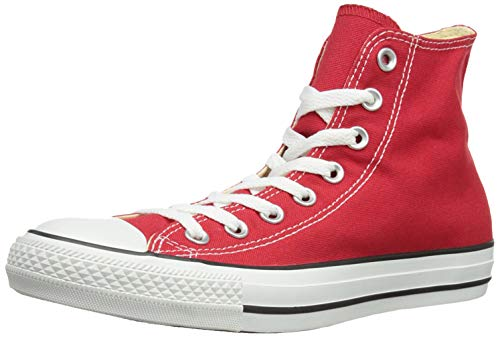 3 - Converse Chuck Taylor All Star Hi, Zapatillas Altas Unisex adulto, Rojo (Red), 43 EU