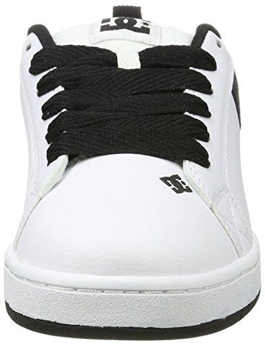 DC Shoes Court Graffik Se, Sneakers Basses Homme Blanc (White/charcoal)