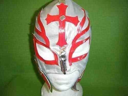 Libre Outfit Kostüm Lucha - SOPHZZZZ TOY SHOP Ringer Maske Rey Mysterio Silber Kinder Reißverschluss Kostüm Outfit Serie mexikanischer Wrestler Kleidung Kleidung Lucha Libre Luchadores NEU