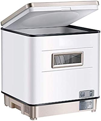 Atten Cargador de Escritorio Lavavajillas de cocina Lavavajillas pequeño con armarios empotrados, una limpieza rápida, inteligente y tiempo controlable, conveniente for el hogar dormitorios Apartament