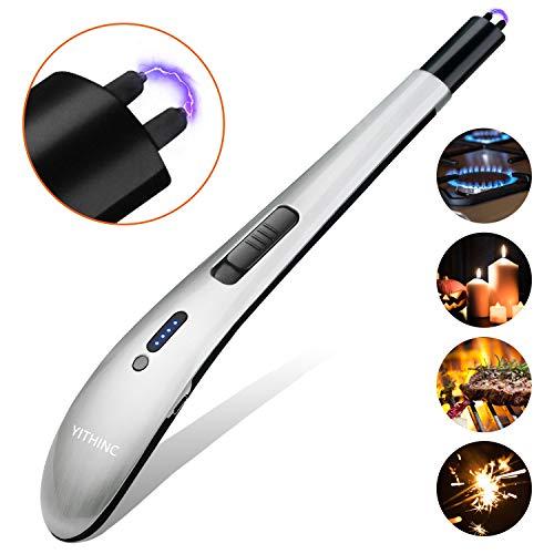 YITHINC - Encendedor eléctrico sin llama, resistente al viento, recargable por USB,...