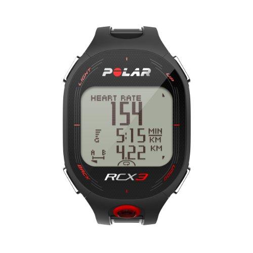 POLAR RCX3M Run Heart Rate Monitor and Sports Watch – Black