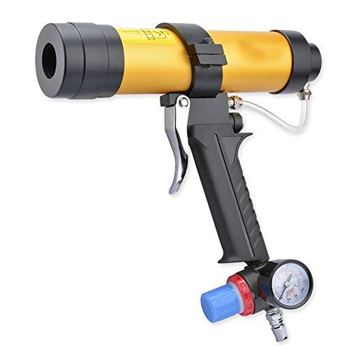 Hohe Qualität 310 ml Einstellbare Geschwindigkeit Pneumatische Glas Klebepistole Glas Klebepistole Luft Gummipistole Verstemmen Applikator Werkzeug
