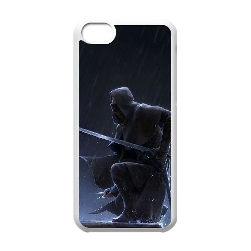 Corvo Attano Dishonored 3 coque iPhone 5C Housse Blanc téléphone portable couverture de cas coque EBDXJKNBO16853