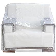 TopSoon Funda de Sillón/Sófa Relax Protector de Sillón de Plástico Transparente 1 Plaza 193 x 117 cm(2 Unidades)
