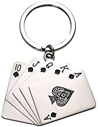 Kolossalz™ Teen Patti Keychain ||Metal Card Keychain || Bike & Car Keychain,Keyring || Bike Key Chain