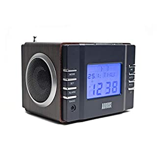 August MB300 - Radiowecker - MP3 Player / Stereoanlage - Uhrenradio (schwarz)