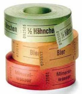3cm x 5,7cm Bonrolle Ausführung: Wurst (Gelb)