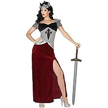 Atosa - Disfraz de Soldado Medieval para mujer, color: Rojo/Gris, 34/36 (Talla del fabricante: XS/SXS/S)