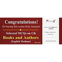 Practice Guru Selected MCQs on GK - Books and Authors Set 2 of 4 (Email Delivery in 2 Hours) (Activation Key Card)