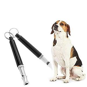 GLQ 2Pcs Sifflet pour Chien, Formation et comportement Aids-Device Réglable à ultrasons Outil d'entraînement Silent Bark Control pour Chiens, Formation de Chien Sifflet arrêter d'Aboyer
