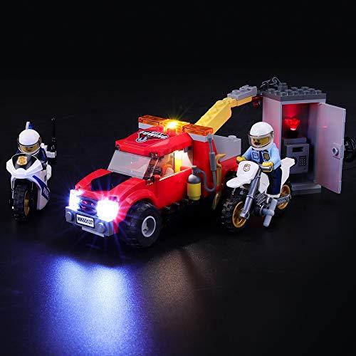 BRIKSMAX Led Beleuchtungsset für Lego City Abschleppwagen auf Abwegen, Kompatibel Mit Lego 60137 Bausteinen Modell - Ohne Lego Set