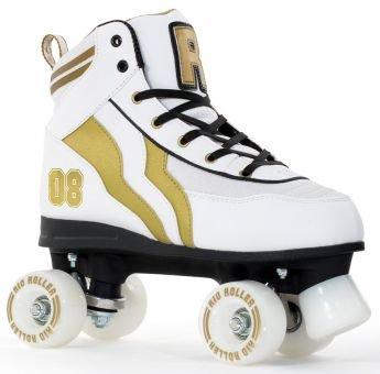 Rio Roller Varsity Quads Rollschuhe Disco Roller weiß-gold