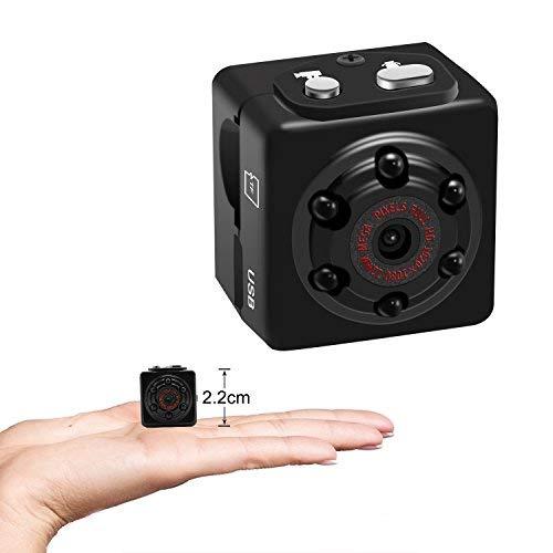 aufikr Mini Kamera 1080P Klein Video Kamera Tragbare Bewegungserkennung Body Kamera Video Recorder mit Nachtsicht, HD Nanny Cam, unterstützt bis zu 128GB Externe Kapazität