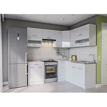 Eldorado möbel winkelküche alina 230x170 weißlack l form küchenzeile eck küchenblock