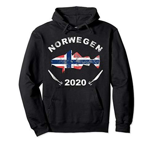 Angeln in Norwegen 2020 Dorsch Angler Norway Angelteam Pullover Hoodie