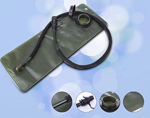 , 2,5l Wasser Tasche Rucksack ooutdoor Bergsteigen Wandern Radfahren Hydration Pack Blase Bag Camping Passt Camelbak - Armeegrün