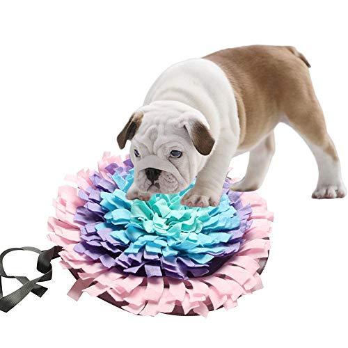 KIOPS Pet Training Blanket, Hundefutter Matte Hund Snuffle Mat Kleine Hundetraining Pad Decke Rutschfeste Pet Aktivität Matte Für Pet Futtersuche Fähigkeit