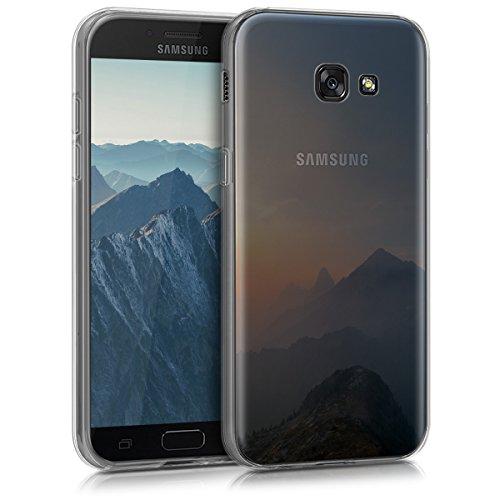 kwmobile Samsung Galaxy A5 (2017) Hülle - Handyhülle für Samsung Galaxy A5 (2017) - Handy Case in Blau Grau Transparent